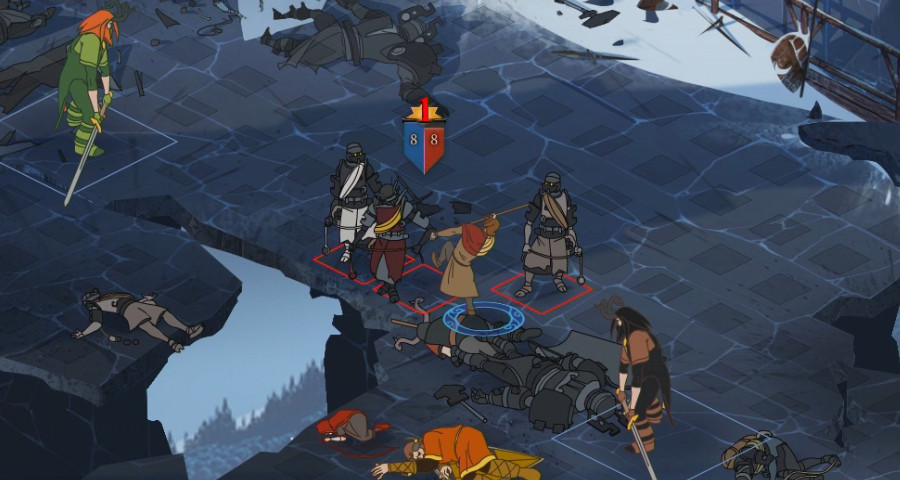 The banner saga battle