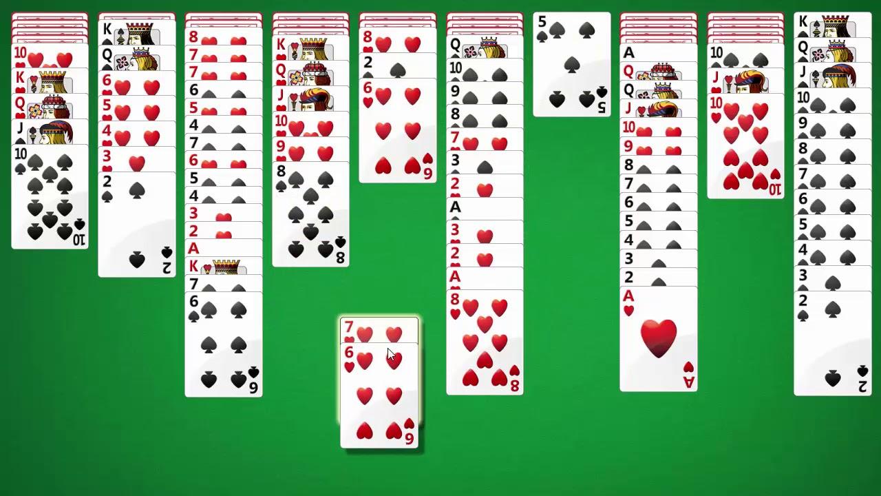 одну в карту солитер пасьянс косынку в играть